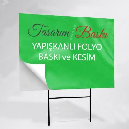 Yapışkanlı Folyo Dijital Baskı - 100x200 cm