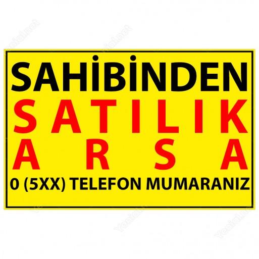 Sahibinden Satılık Arsa Afişi - 200x150 cm